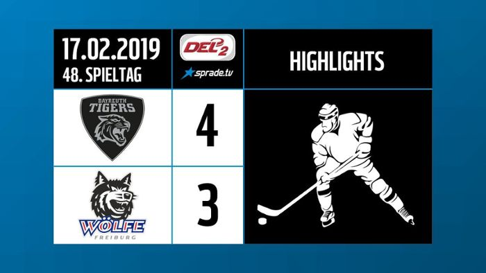 DEL2-Highlights: Bayreuth Tigers - EHC Freiburg