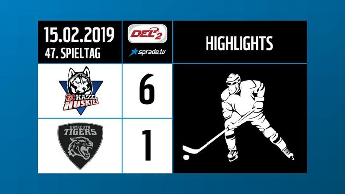 DEL2-Highlights: Kassel Huskies vs Bayreuth Tigers