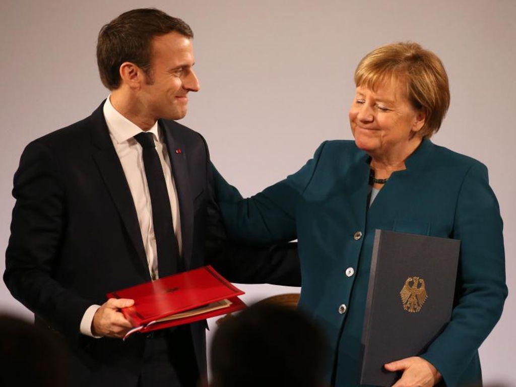 Vertrag Von Aachen Merkel Und Macron Beschwören Einheit Europas